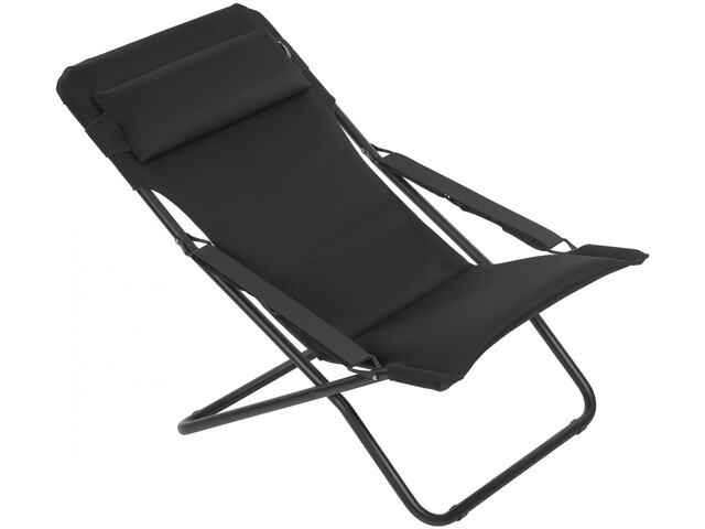 Lafuma Mobilier Transabed Bain de soleil Air Comfort, noir/acier